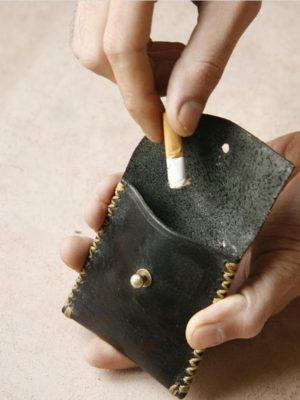 جای ته سیگار چرمی دست ساز